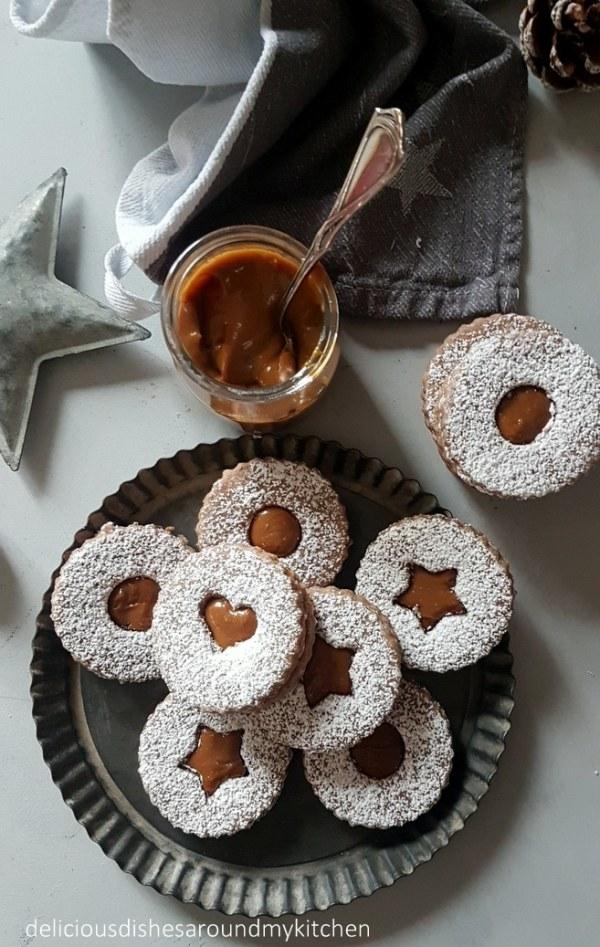 Ginger- Linzer Plätzchen mit Dulce de Leche