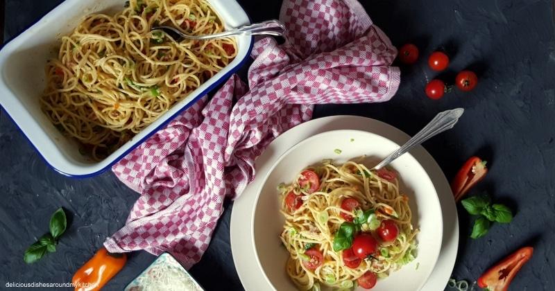Spaghetti Carbonara…meine Lieblings- Pasta mit einer Portion Frühling