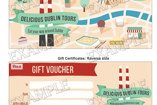 Delicious Dublin Tour, Food Tour Dublin, Gift Voucher, Irish Food Tour, Dublin Food Tour, Gift certificate, French Foodie in Dublin