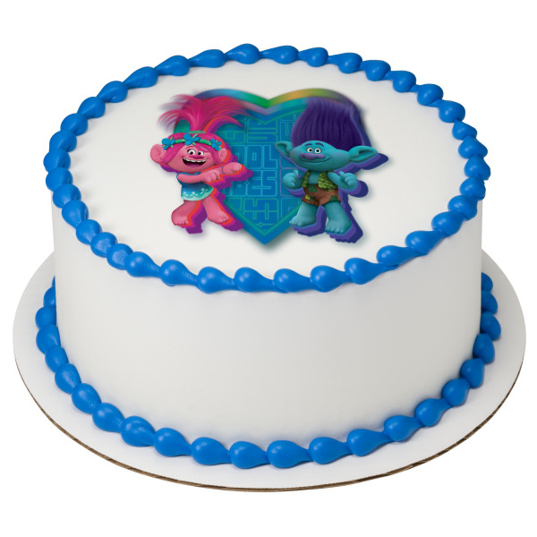 Dreamworks Trolls Birthday Cake At Delicious Edibles Custom Cake Bakery