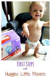 First Steps & Huggies Little Movers Diapers