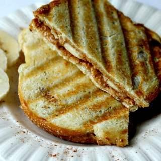 Grown Up Peanut Butter & Banana Panini