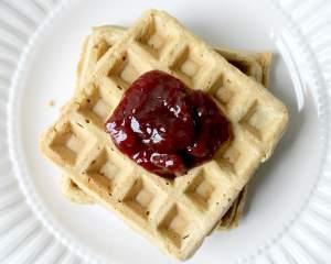 Gluten Free Peanut Butter & Jelly Waffles