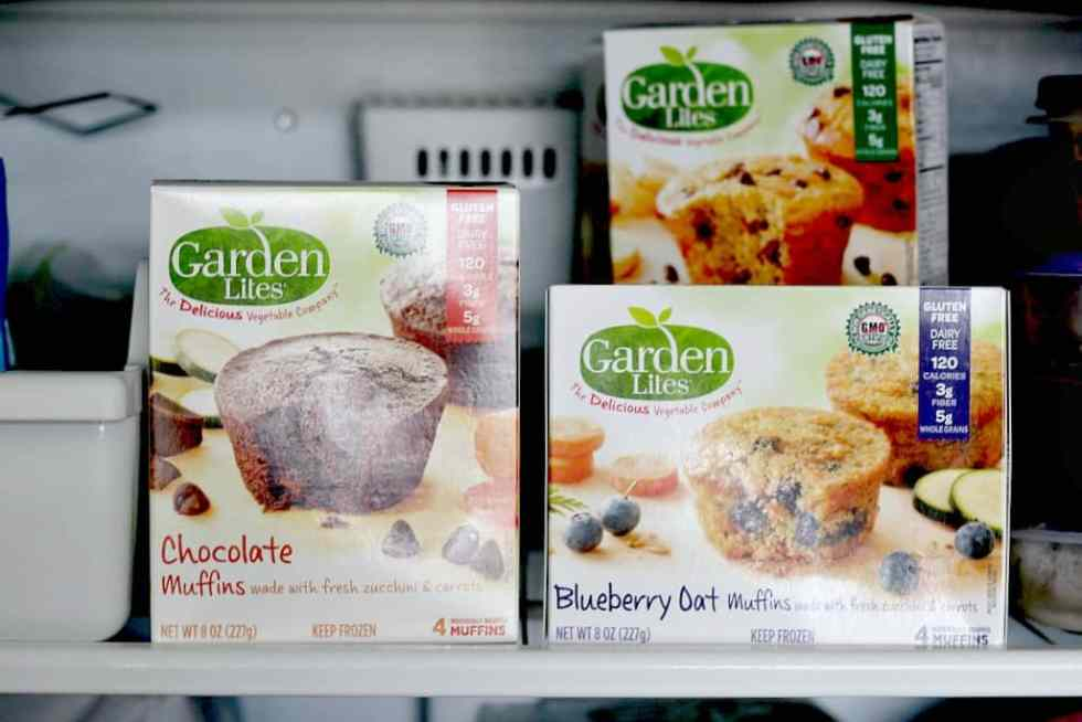 Garden Lites Muffins in the freezer