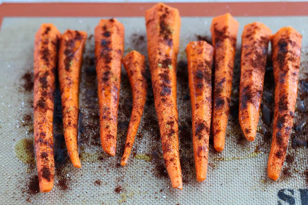 Raw Carrots with Seasoning