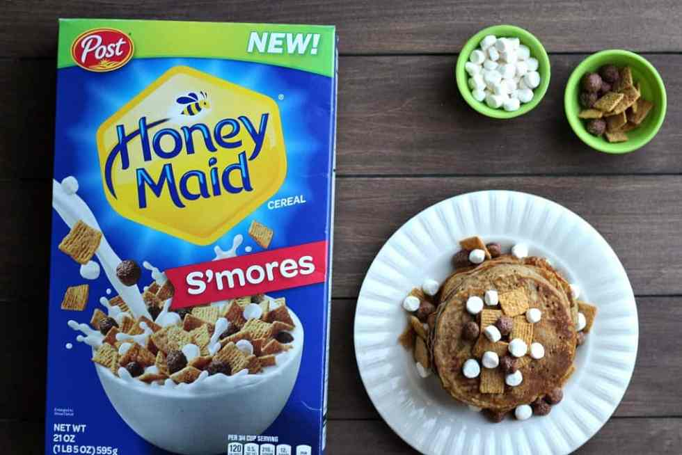 Honey Maid S'mores Cereal and Pancakes