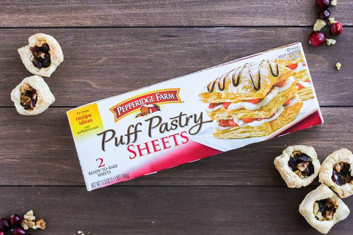 Pepperidge Farms Puff Pastry Sheets with Mini Cranberry Cups