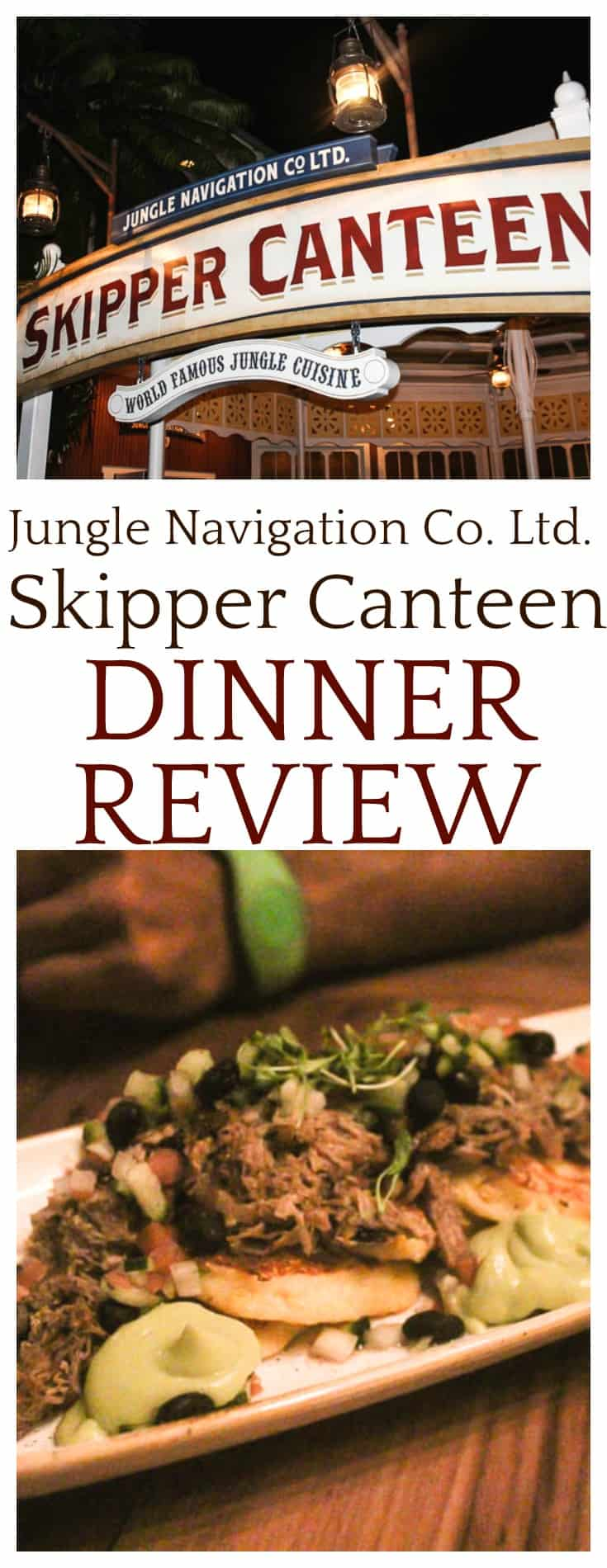 This Jungle Navigation Co. Ltd. Skipper Canteen dinner review is based on my experience when visiting the restaurant in November 2017 with my family. This restaurant can be found at Walt Disney World inside the Magic Kingdom Park.