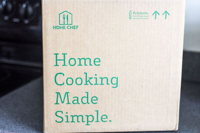 The Home Chef Box on a Counter
