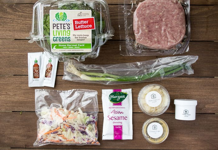 The Ingredients for the Thai Turkey Lettuce Wraps