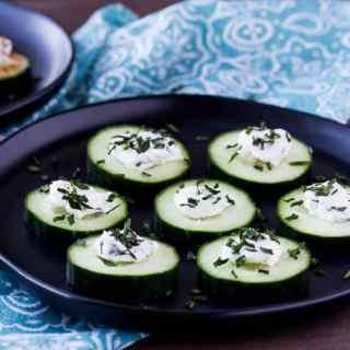 Mini Low Carb Cucumber Bites (gluten free)