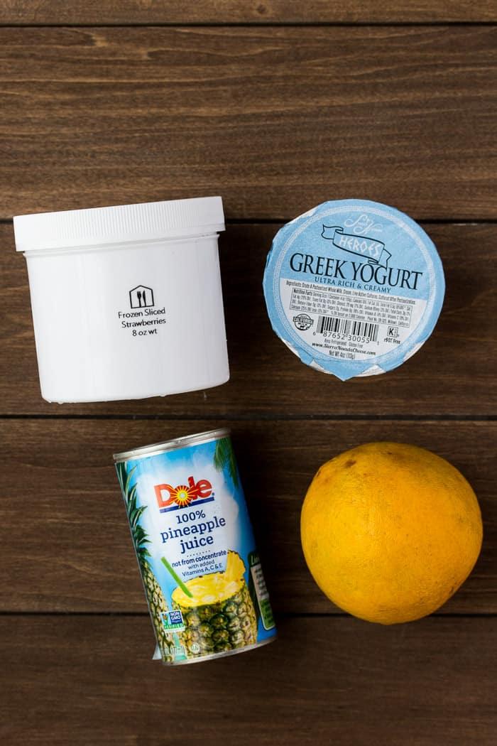 Ingredients for the Frutti Tutti Smoothie