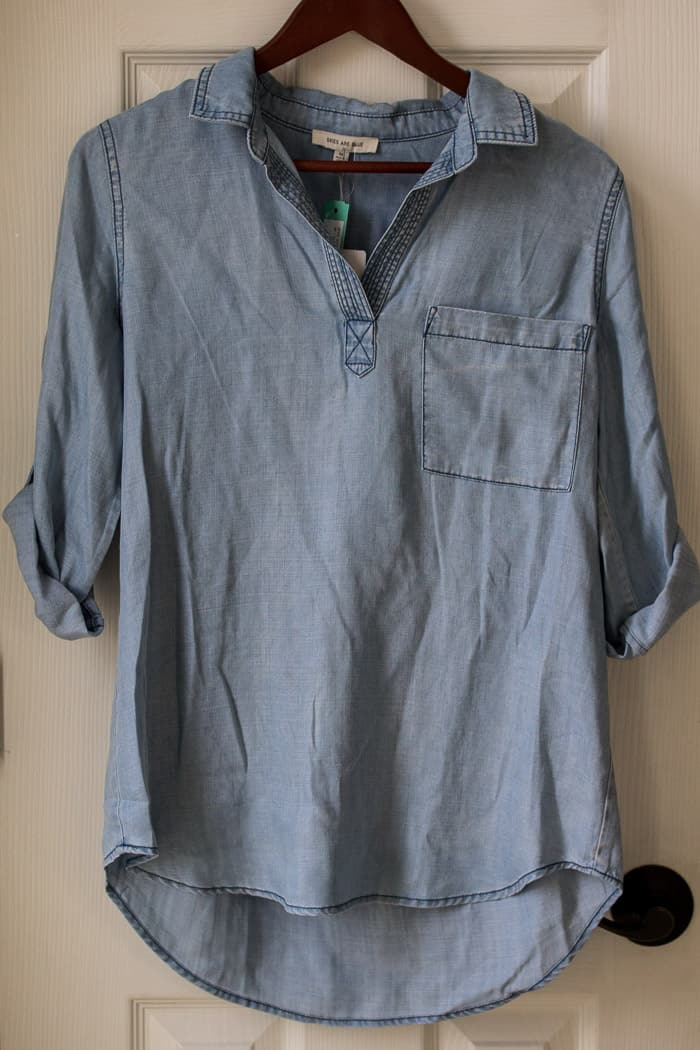 Stitch Fix Skies are Blue Alisson Chambray Top