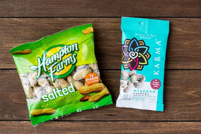 Peanut and Cashew Snack Bags