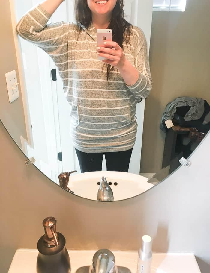 Wearing the 41 Hawthorn Karlotta Hooded Dolman Knit Top #ad #style #fashion #stitchfix #stitchfixreview