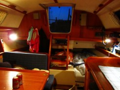 The interior of our boat.