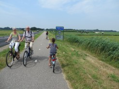 Cycling in Texel.