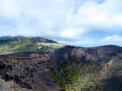 Looking into Volcán San Antonio's caldera