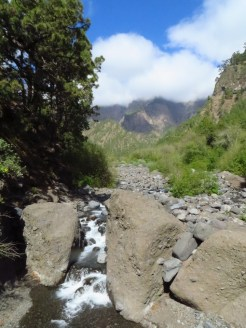 The riverbed at the bottom of the Caldera