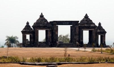 The main gate of Ratu Boko site