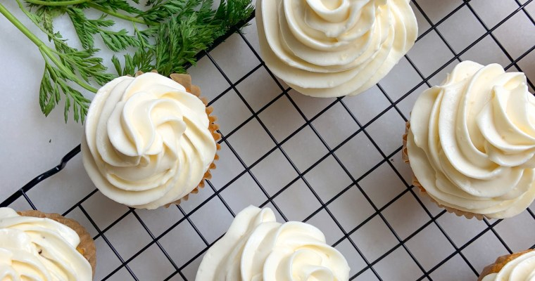 Gluten-Free Carrot Cake Cupcakes with Thunderbird Bar Nibbles
