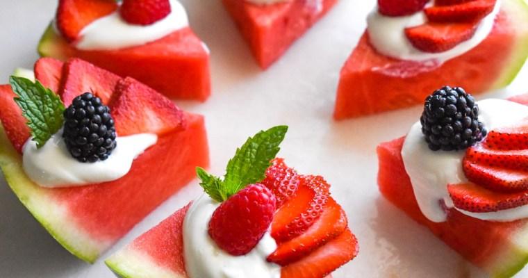 Refreshing Watermelon Pizza