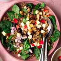 Mediterranean Apple Walnut Salad
