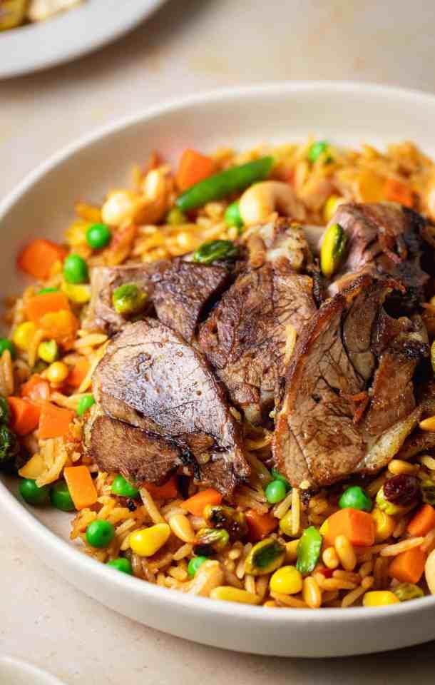 Lamb Kabsa Deliciously Mediterranean