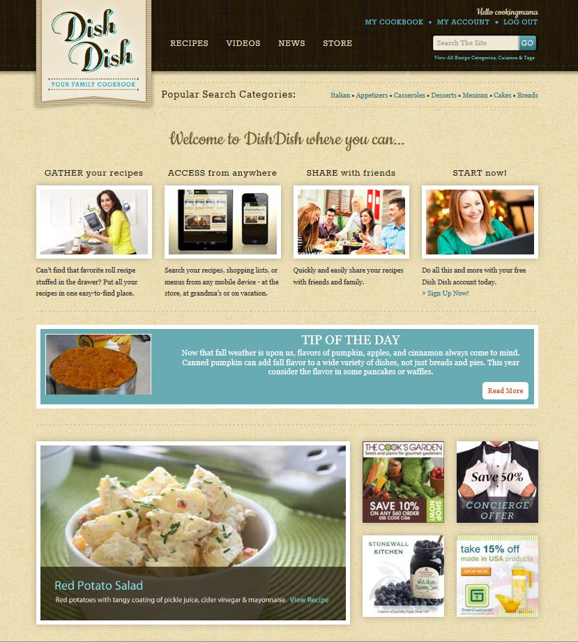 Dish Dish homescreen capture 9-17-12