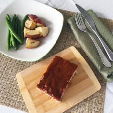 Meatloaf with Roasted Potatoes and Green Beans