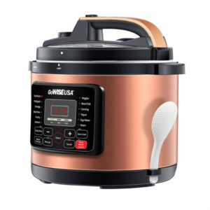 Welcome to The GoWISE USA 12-in-1 Pressure Cooker Giveaway! 1 Lucky Win A GoWISE USA 12-in-1 Programmable Pressure Cooker In Stainless Steel Or Copper Finishes! RV $145