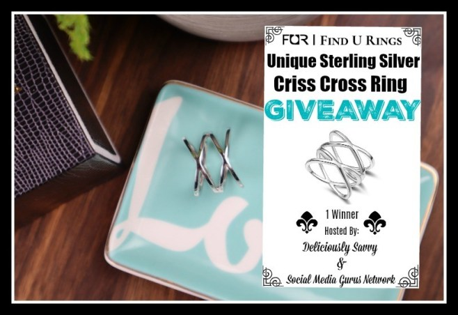 Find U Rings Unique Sterling Silver Criss Cross Ring Giveaway ~ Ends 8/14 @SMGurusNetwork @find_u_rings #MySillyLittleGang