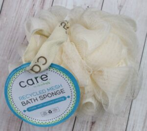 Cleanlogic care recycled mesh bath sponge