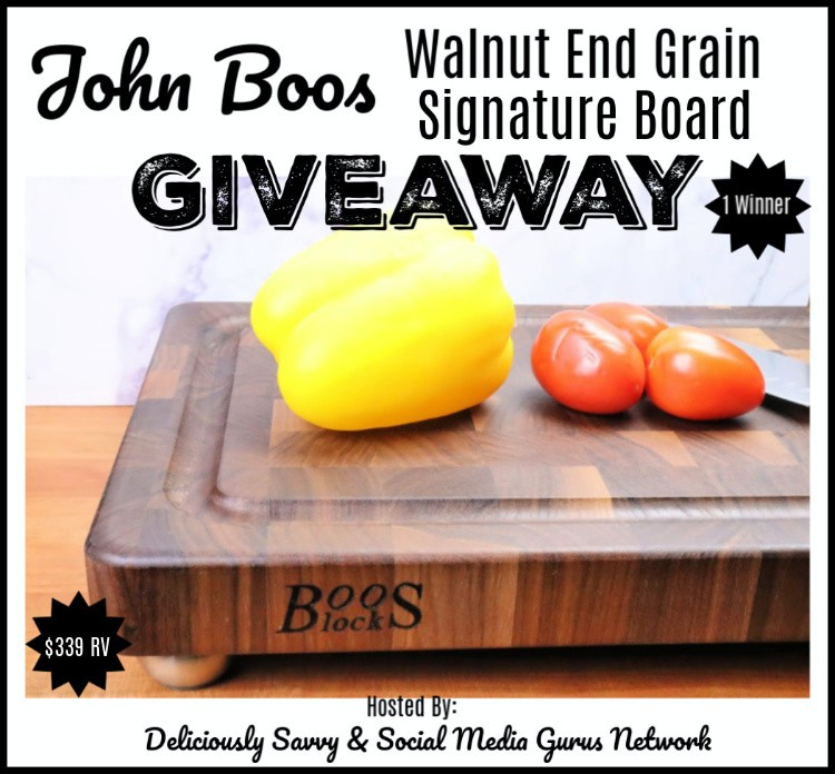 John Boos Co. Walnut End Grain Signature Board Giveaway