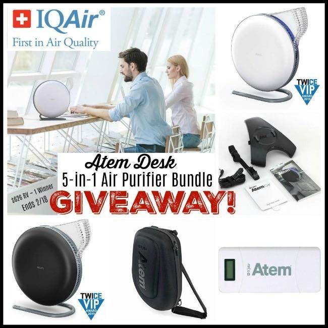 IQAir Atem Desk 5-In-1 Air Purifier Bundle Giveaway