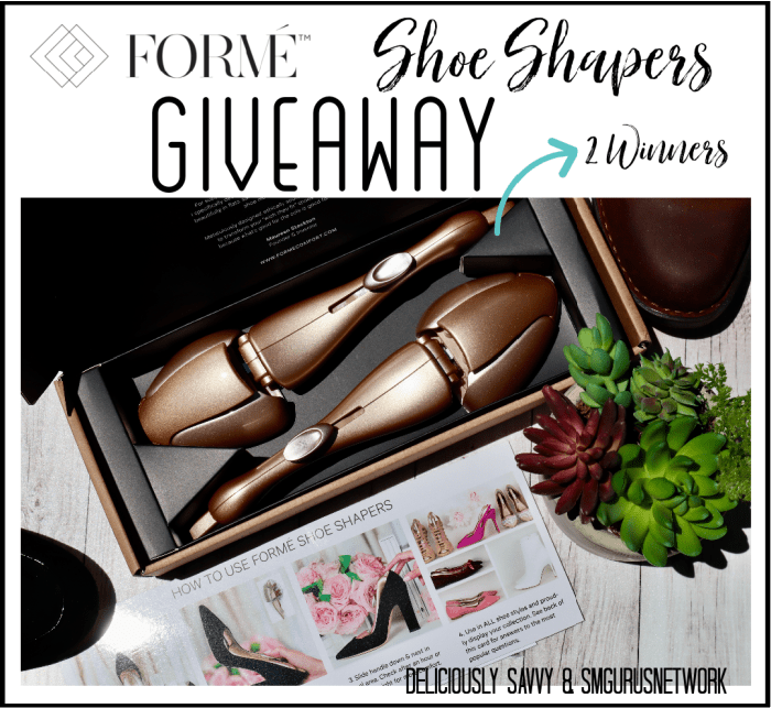 Forme Shoe Shapers Giveaway