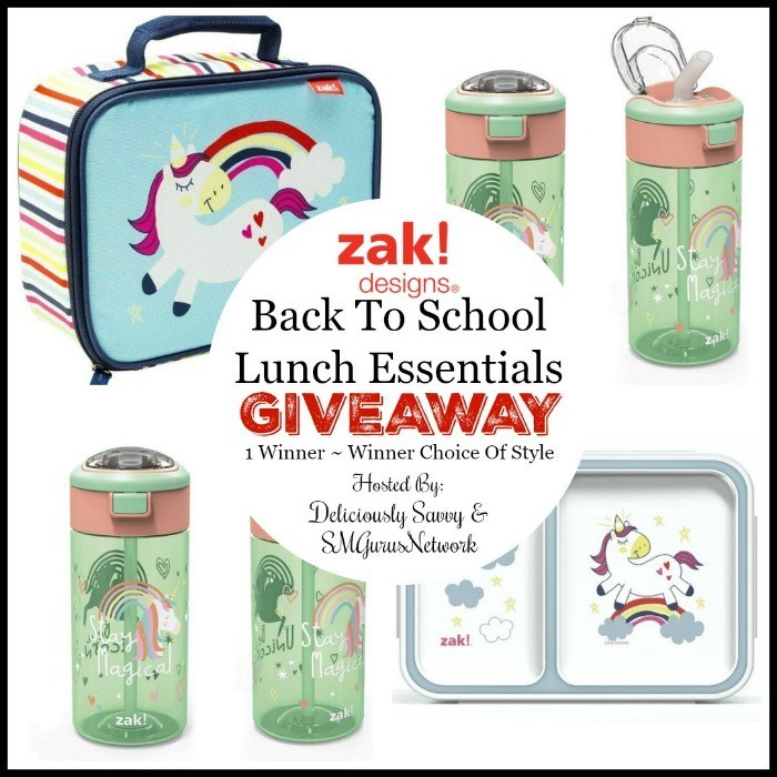 Zak! Designs Back To School Essentials For Lunch Giveaway