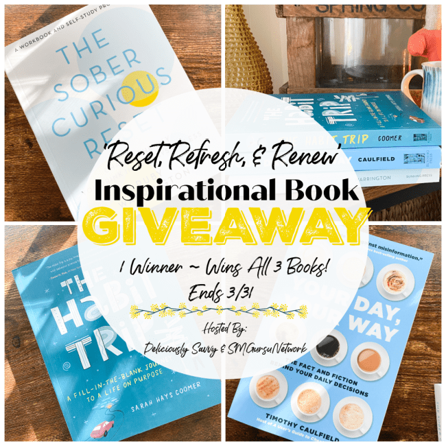 'Reset, Refresh and Renew' Inspirational Books Giveaway ~ Ends 3/31 @Running_Press @deliciouslysavv #MySillyLittleGang