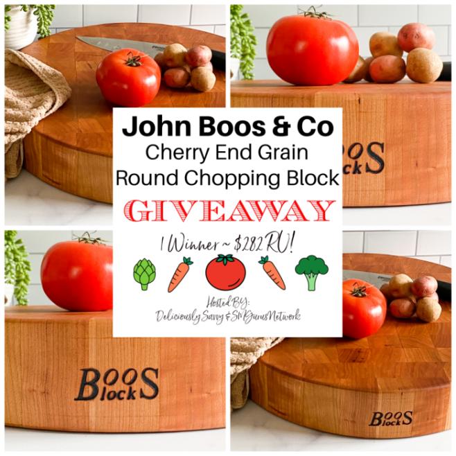 John Boos & Co Cherry End Grain Round Chopping Block Giveaway ~ Ends 7/24 @johnboosco #JohnBoosCo @DeliciouslySavv #MySillyLittleGang