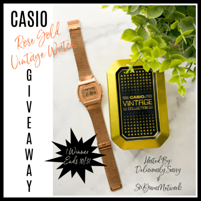 Casio Rose Gold Vintage Watch Giveaway ~ Ends 10/31 #MySillyLittleGang