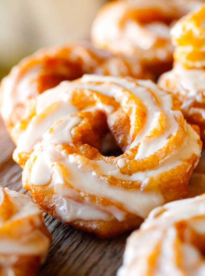 pumpkin-spice-brulee-crullers-with-a-drippy-honey-&-spice-glaze