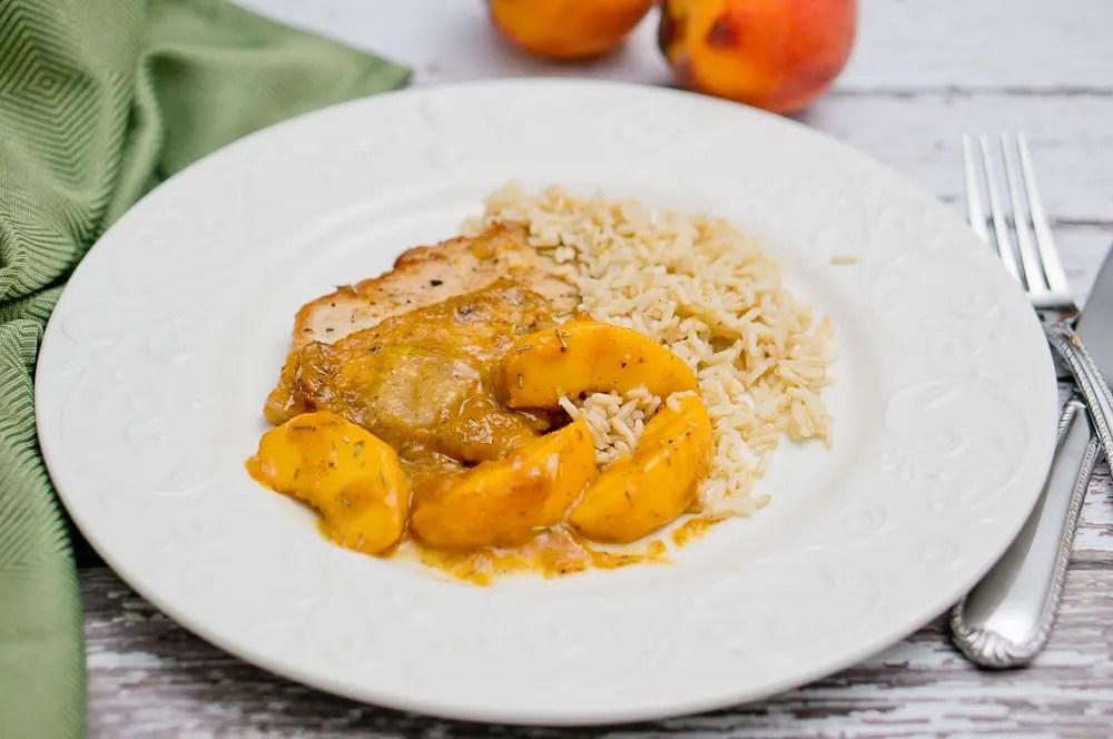 Rosemary Peach Pork Tenderloin
