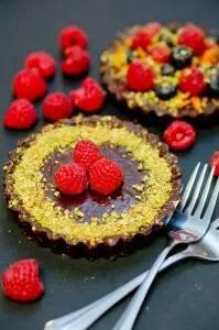 No Bake Chocolate Tarts