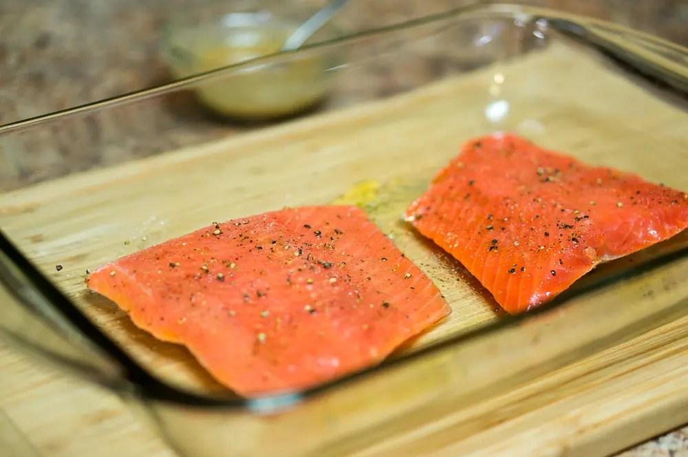 Maple Mustard Glazed Salmon