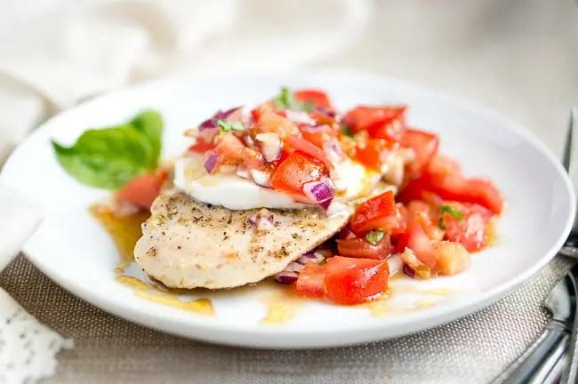 Grilled Chicken Caprese   www.deliciousmeetshealthy.com