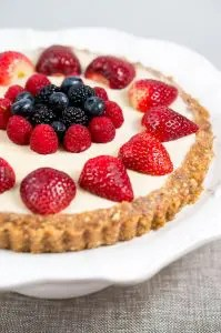 No Bake Berry Cheesecake | www.deliciousmeetshealthy.com