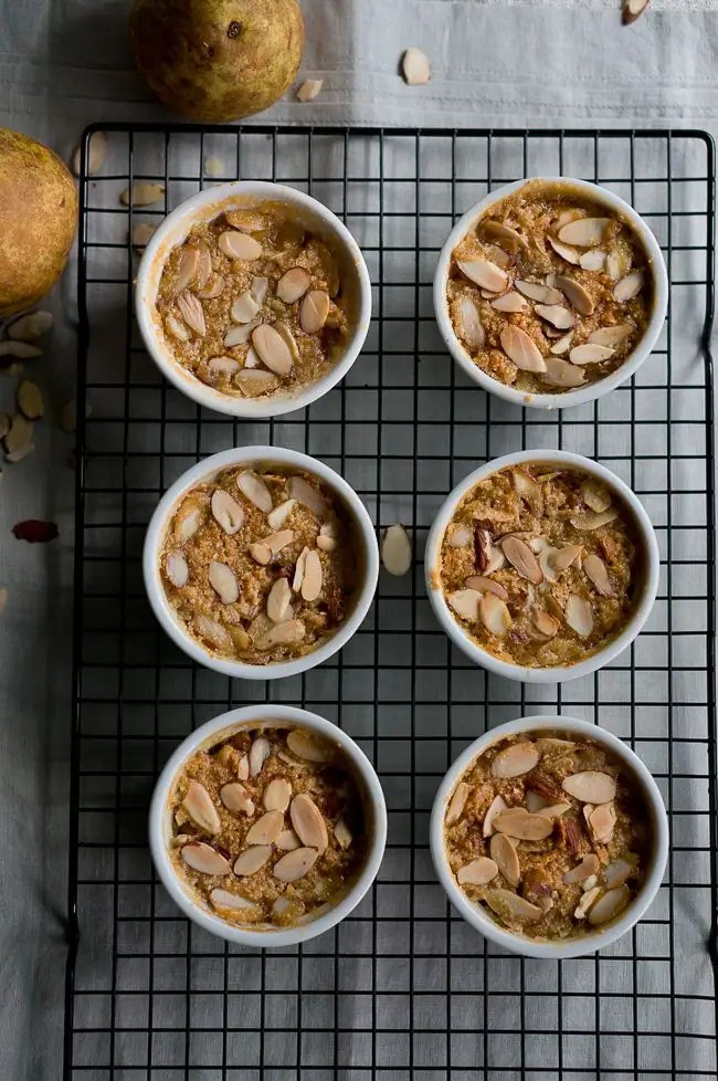 Paleo Pear and Almond Crisp-1