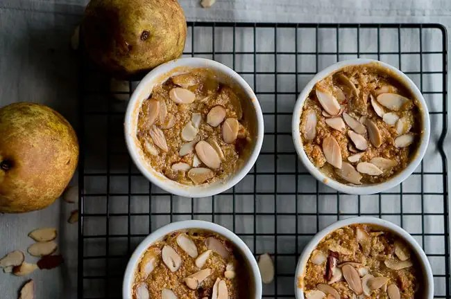 Paleo Pear and Almond Crisp-2
