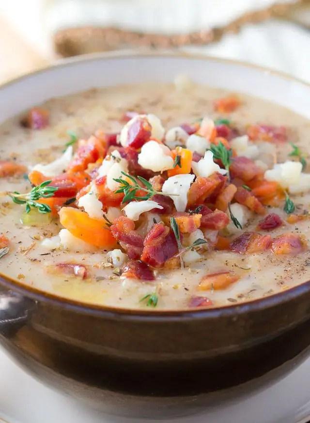 Easy Cauliflower Soup-4
