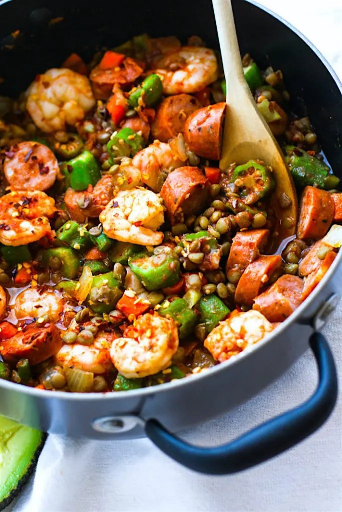 One Pot Shrimp Jambalaya